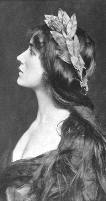 Vintage woman profile
