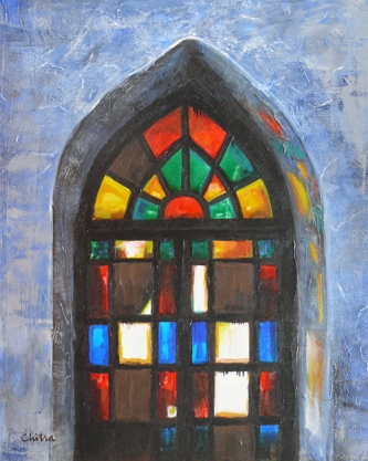 Image result for stained glass windows in church painting
